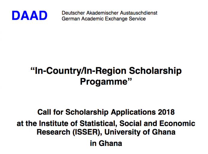 daad-university-of-ghana-isser-scholarships-2018