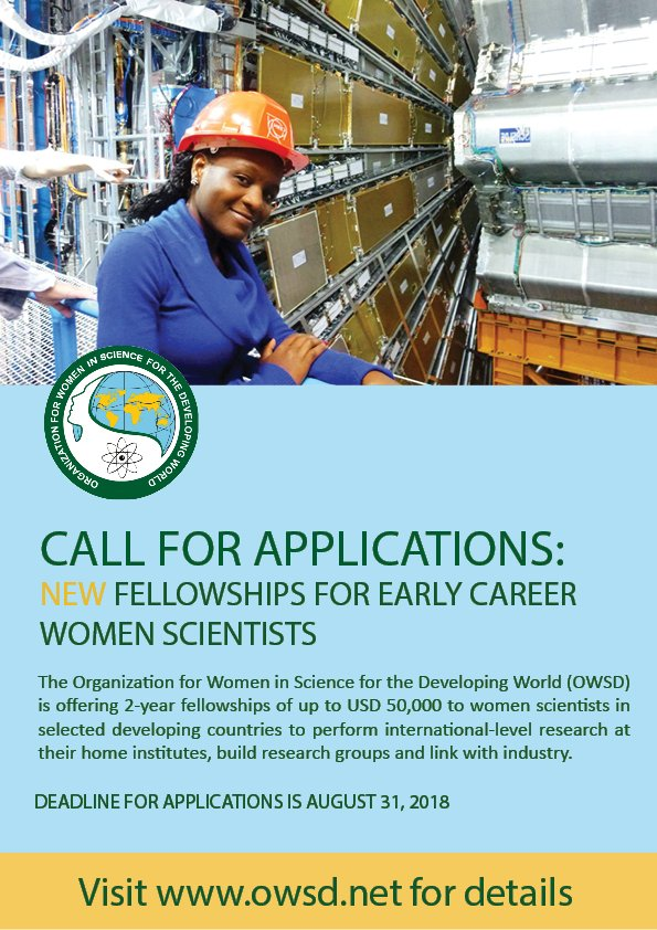 owsd-fellowship-for-early-career-women-scientists