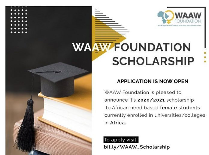WAAW-Foundation-2020-2021-Scholarship-for-African-Female-Students-in-STEM