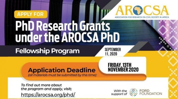 Association-for-Research-On-Civil-Society-In-Africa-AROCSA-PhD-Fellowship-Program-2020_2021