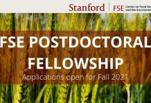 Stanford-Center-on-Food-Security-and-the-Environment-Postdoctoral-Fellowship-2021